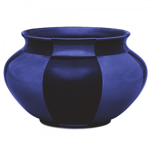 Werner Burri's Vase Ritzdekor 660 Königsblau