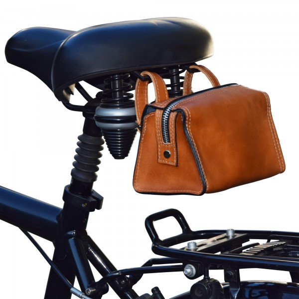 Fahrrad-Werkzeugtasche aus Stierleder