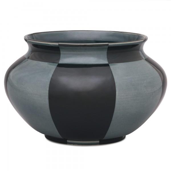 Werner Burri's Vase Ritzdekor 660 Schwarzgrün
