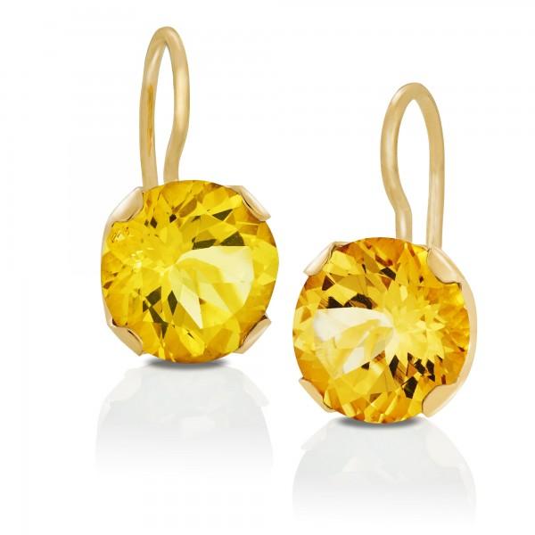 Ohrhänger 750/Gold mit Goldberyll
